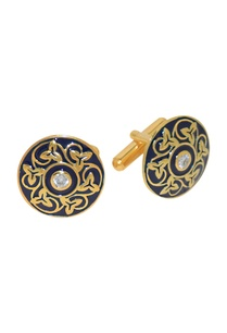 gold-plated-blue-handcrafted-cufflinks