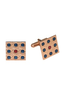 multicolored-rose-gold-finish-handcrafted-square-cufflinks