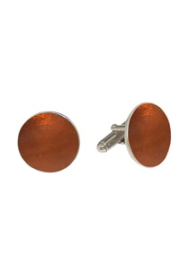 orange-circular-handcrafted-cufflinks