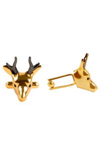 gold-black-brass-deer-collar-pin
