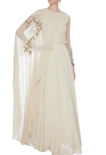 ivory-georgette-silk-cape-style-anarkali
