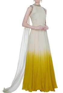 ivory-yellow-chiffon-silk-ombre-gown-with-attached-dupatta