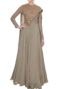 grey-georgette-crepe-silk-anarkali-gown