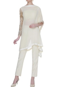 ivory-georgette-silk-kurta-with-pants