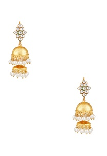 pearl-kundan-jhumka-earrings