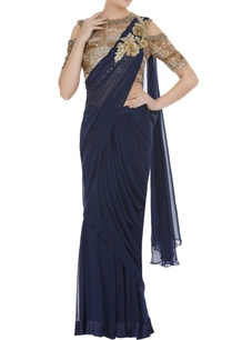 pre-draped-saree-with-pearl-sequin-blouse
