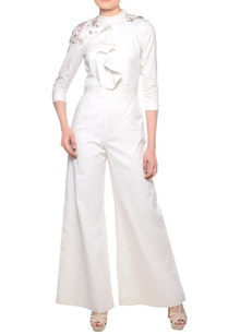 off-white-ruffle-detail-jumpsuit