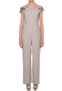 dusty-grey-heavy-crepe-off-shoulder-bead-embroidered-jumpsuit