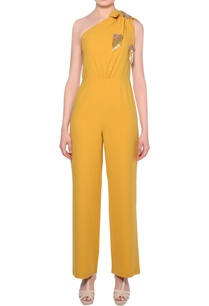 mustard-yellow-heavy-crepe-fringe-bow-detail-jumpsuit