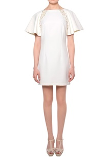 white-flared-sleeve-3d-sequin-bead-embroidered-mini-dress