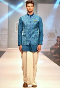 blue-paisley-printed-linen-half-jacket