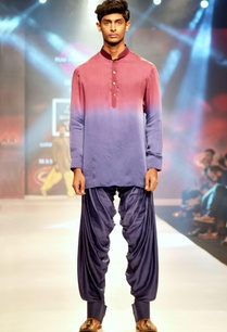 crimson-purple-silk-kurta-with-silk-cowl-pants