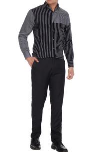 black-white-cotton-striped-shirt