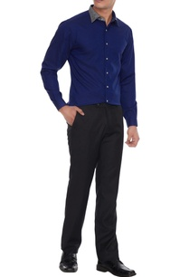 royal-blue-silver-grey-cotton-solid-shirt