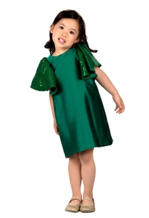 green-taffeta-silk-umbrella-dress