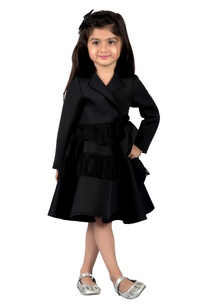black-frilly-jacket-style-dress