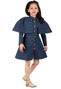 navy-blue-taffeta-cotton-lining-trench-stripe-coat-short-dress