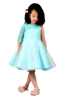 mint-blue-taffeta-silk-lace-pouf-dress