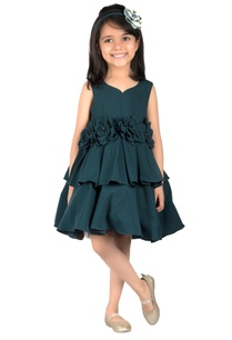 green-double-hem-banana-fiber-dress