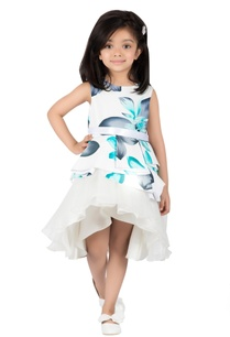 ivory-aqua-printed-cotton-water-lily-dress
