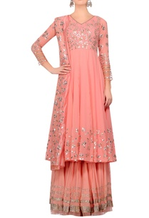 pink-gota-work-anarkali-kurta-with-gharara-dupatta