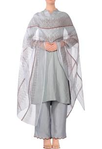 ash-blue-stitch-detail-kurta-with-solid-pants-printed-dupatta