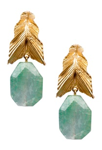 green-brass-banded-agate-leaf-drop-earring