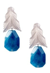blue-brass-banded-agate-leaf-drop-earring