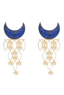 blue-brass-synthetic-half-moon-earring