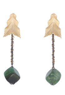 green-brass-onyx-leaf-gemstone-earring
