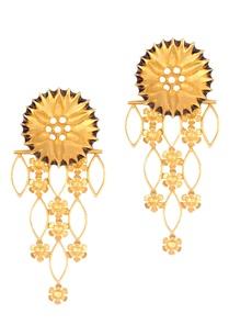 golden-brass-flower-jali-earring