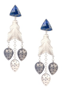 silver-brass-peruvian-blue-opal-gemstone-leaf-dangler-earrings