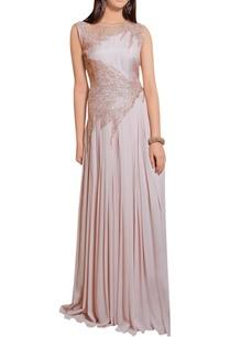 powder-rose-georgette-sequin-embellished-gown