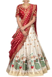 gold-red-banarasi-silk-lehenga-set
