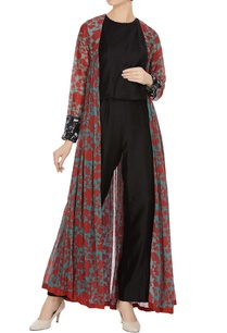 floral-front-open-cape-with-sequin-cuffs