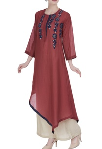 asymmetric-hemline-embroidered-tunic