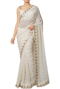 ivory-silk-georgette-silk-crepe-gota-embroidered-saree-with-gota-embroidered-blouse