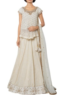 ivory-silk-georgette-khadi-cotton-net-self-printed-lehenga-with-embroidered-blouse-dupatta