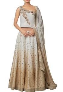 ivory-silk-chanderi-khadi-silk-viscose-georgette-shaded-lehenga-with-zardozi-embroidered-blouse-shaded-dupatta