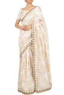 ivory-chanderi-satin-hand-printed-zardozi-hand-embroidered-sari-with-gold-antique-zardozi-blouse