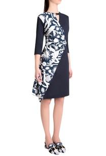 sapphire-italian-jersey-izu-juno-printed-wrap-short-dress