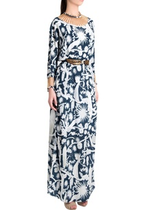 white-sapphire-printed-crepe-izu-juno-pearl-needle-work-kaftan-maxi-dress