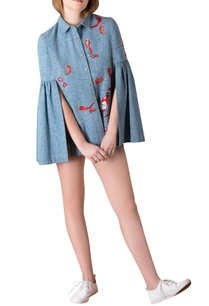 denim-cape-shirt-with-frill-sleeves
