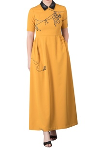 hand-embroidered-collared-maxi-dress