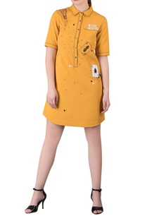 shift-dress-with-applique-work