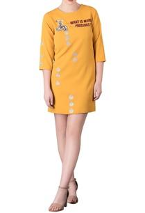 applique-work-short-dress