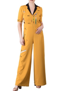 yellow-vintage-stationery-motif-jumpsuit