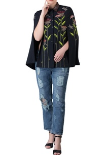 black-imported-polyester-cape