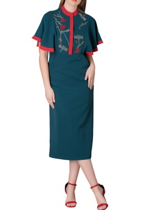 emerald-green-berry-dragonfly-motif-dress