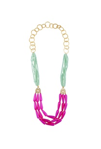 tiered-style-necklace-with-multicolored-beads